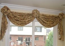 Swags Rosettes Window Treatment Cleaning provided by CFS